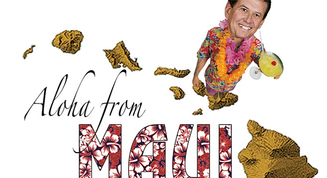 Marty Block and several other Democratic party politicans stormed Hawaii with Steve Peace in November.