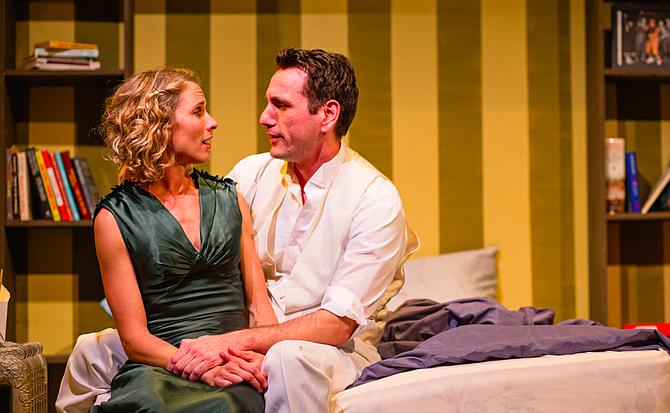Amanda Morrow and John DeCarlo in Stage Kiss