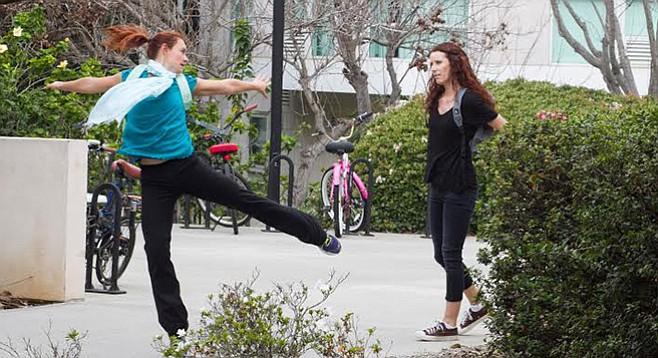 Cara Steen and Cecily Holocombe in San Diego I Love You 3.0 at Circle Circle dot dot