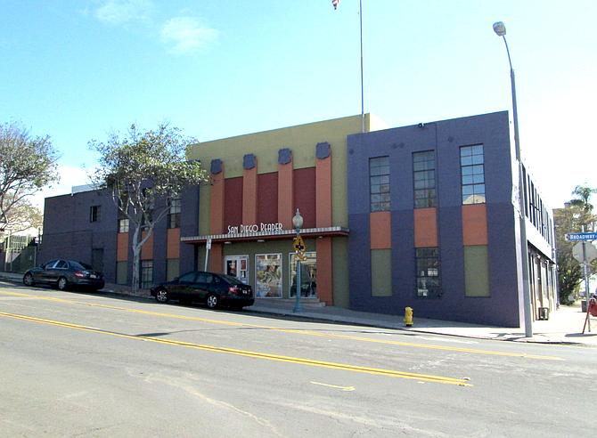 Exterior of the Reader building in Golden Hill today