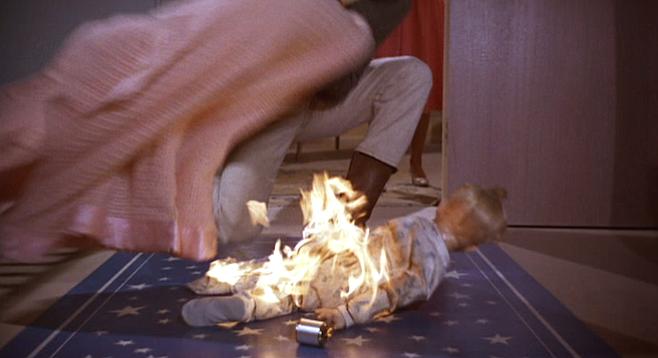 "Hugh Burnupme ignites the screen as ""Rogie"" in Susan Slade."