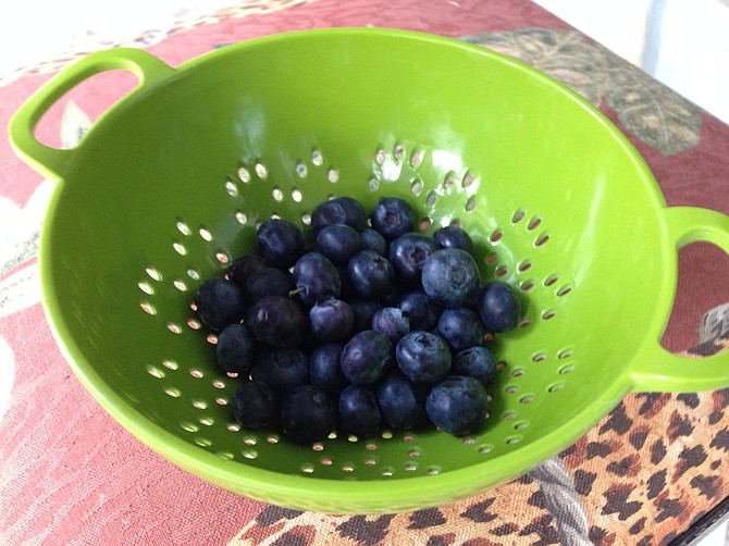 The blueberries turned out better than the last batch I overpaid for at Whole Foods. Blueberries from Specialty Produce.