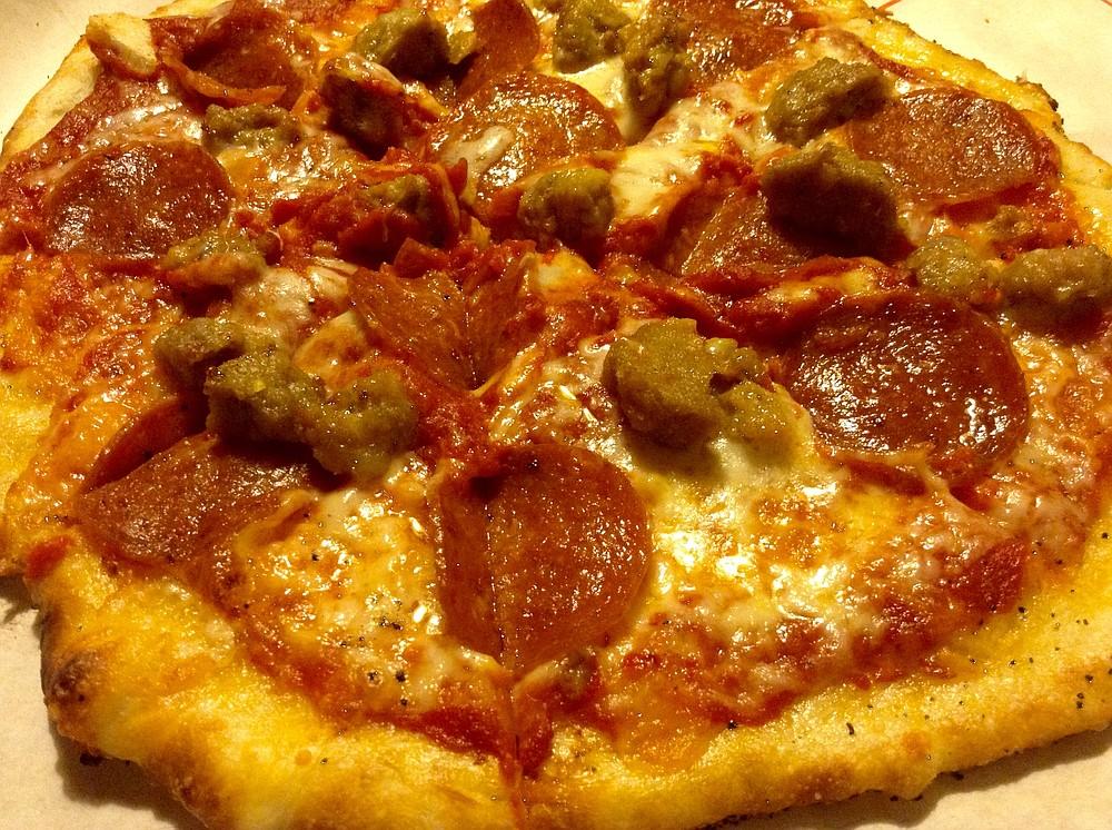 My pepperoni/sausage/meatball pizza