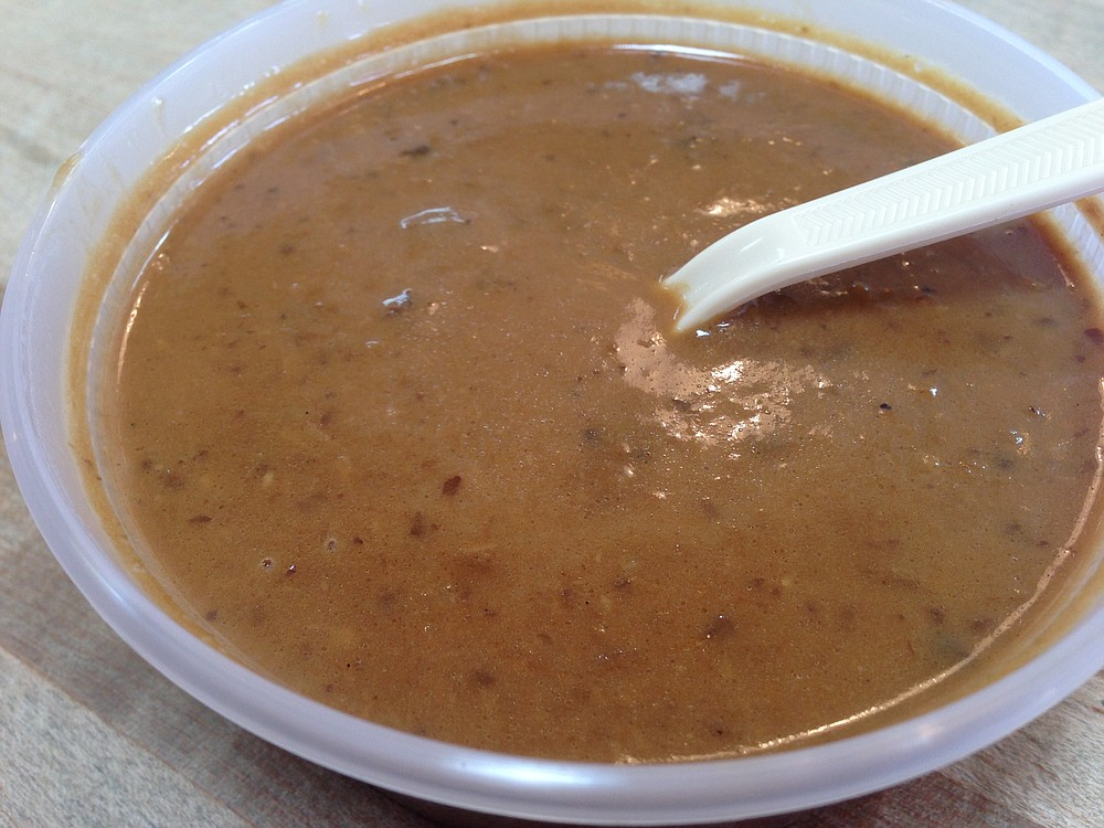 Mushroom soup. It may not be pretty, but it sure is tasty.