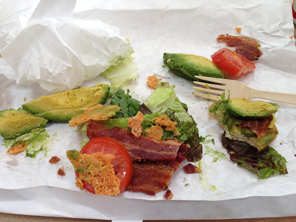 Giant chunks of avocado tend to fall out. Messy, but worth it.