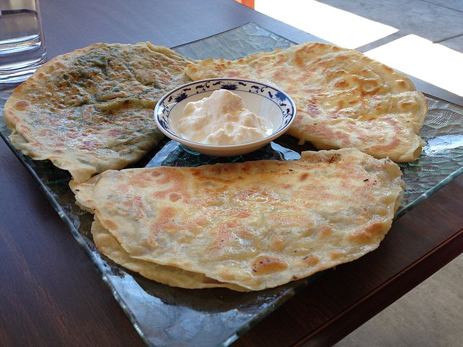 Some call it a pancake, some a quesadilla. In Turkey it's called gozelme. Lezzet Café.