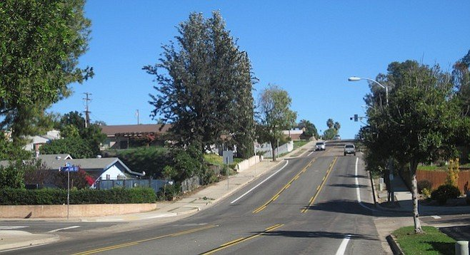 What will happen to Zion Avenue (pictured) if drivers detour from Friars or Mission Gorge roads?