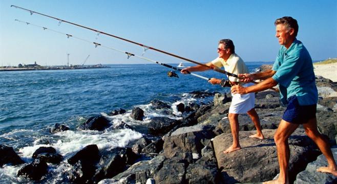 рыбалка на хорватии не без;  берега моря