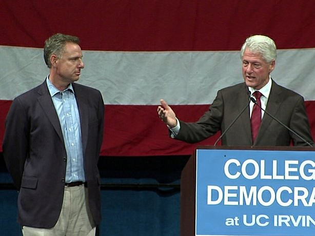 Scott Peters and Bill Clinton
