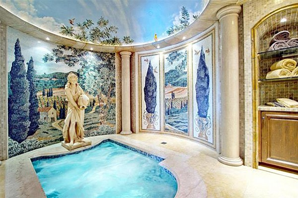 The 2500-square-foot spa building? Yeah, it's lavish inside.