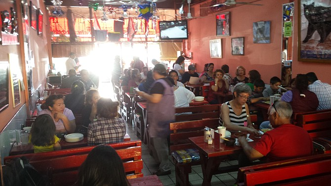 El Rincon del Oso is a popular lunch spot for shoppers at Mercado Hidalgo