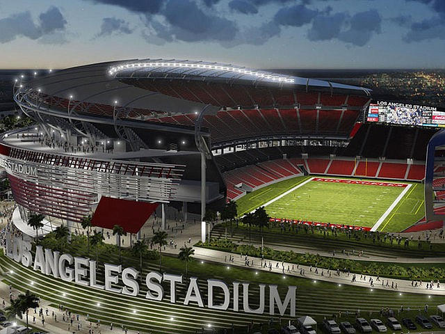 Rendering of Raiders' and Chargers' shared home