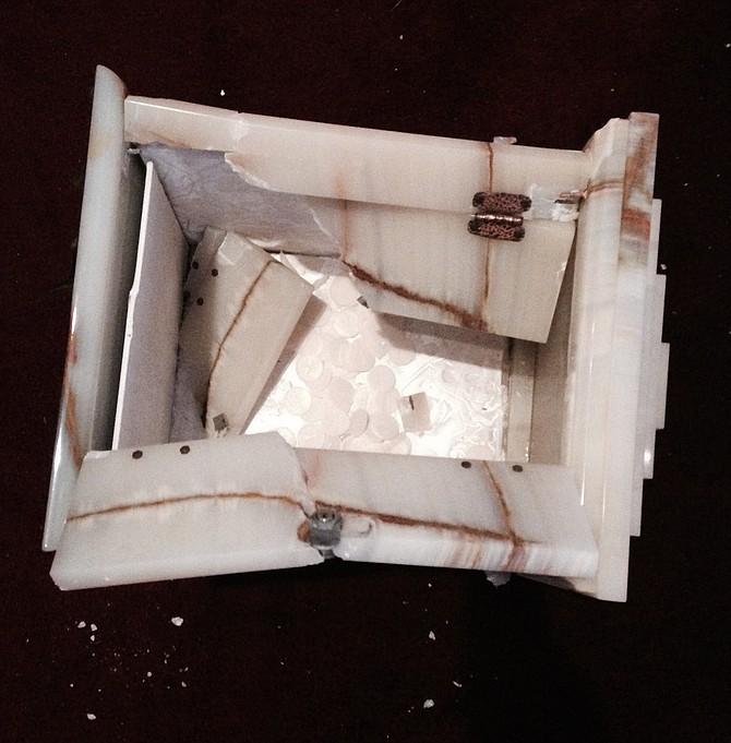 Smashed tabernacle