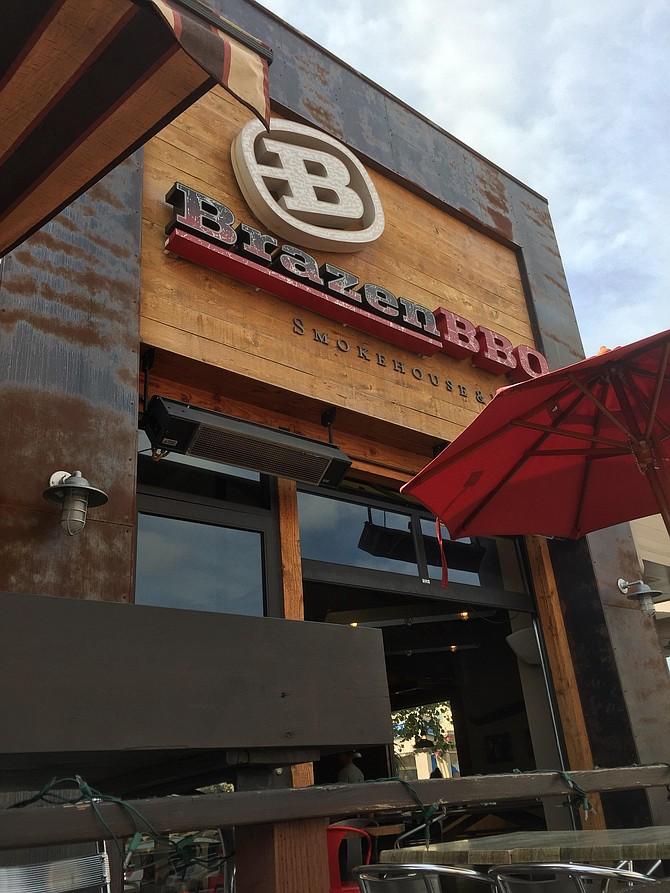 Exterior of Brazen BBQ
