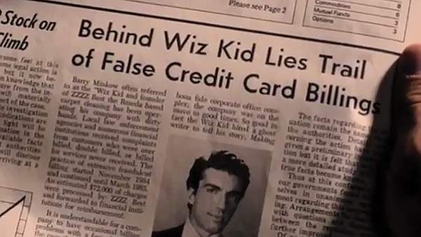 Barry Minkow created a Ponzi scheme while in his teens (from the Minkow movie)