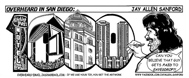 The 1000th installment of Overheard in San Diego