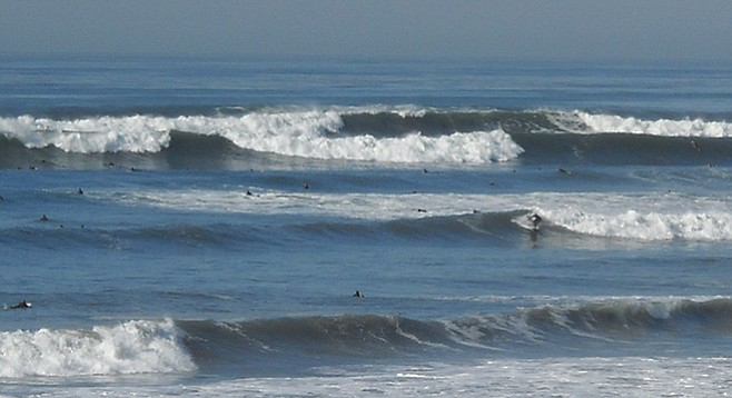 Are most surfers okay in waves smaller than ten feet?