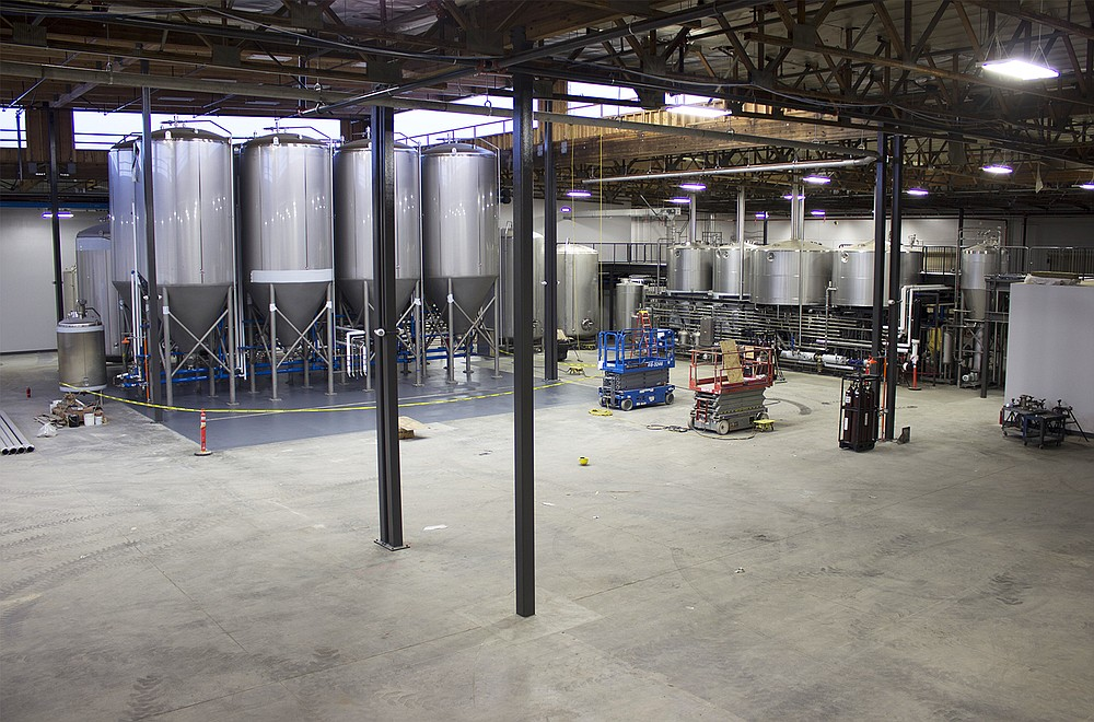 Even after installation of the brewery and Phase One of its cellar, there is an immense amount of open space for AleSmith to work with at its new facility (photo by @sdbeernews)