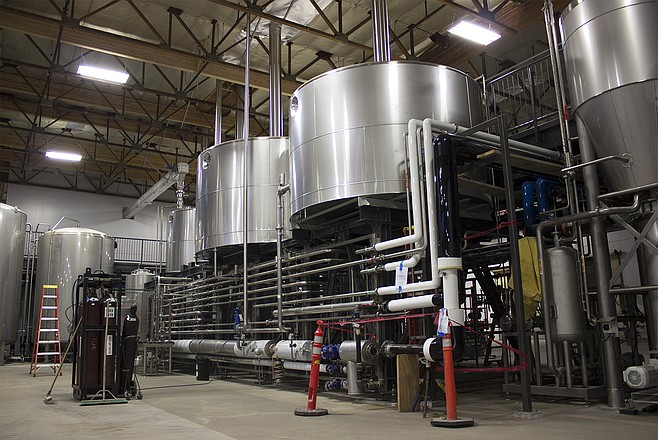 AleSmith's state-of-the-art Steinecker brewhouse (photo by @sdbeernews)