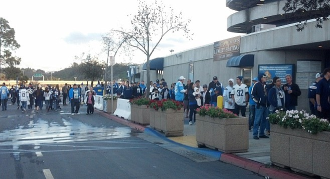 Fans faced long lines and pat downs to enter, just like on game days