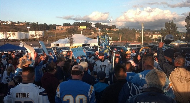Some fans arrived early to tailgate