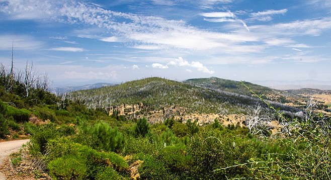Cuyamaca Peak and Middle Peak viewed from the fire lookout road
