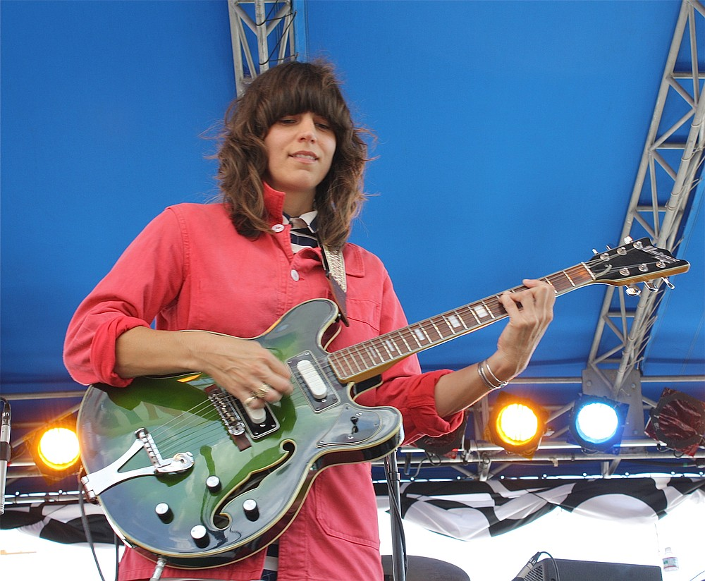 Art-rock Fiery Furnacer Eleanor Friedberger hops off at Whistle Stop on Friday.