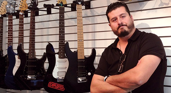 Hock-and-roll pawn broker Moris Adato at CashCo in City Heights