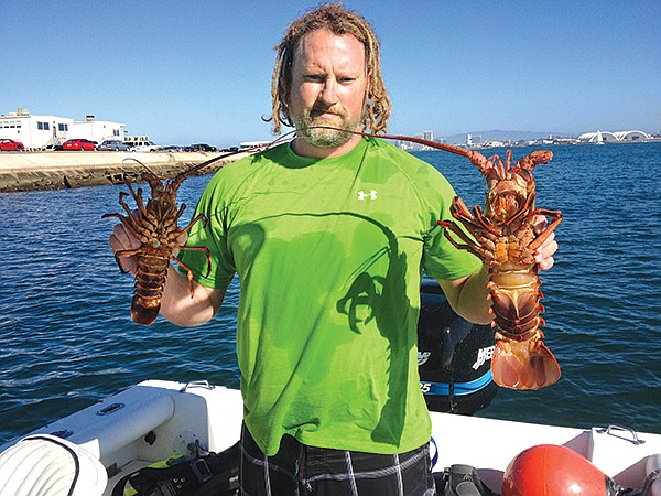 Berkley traps lobsters for parties — not for sale.