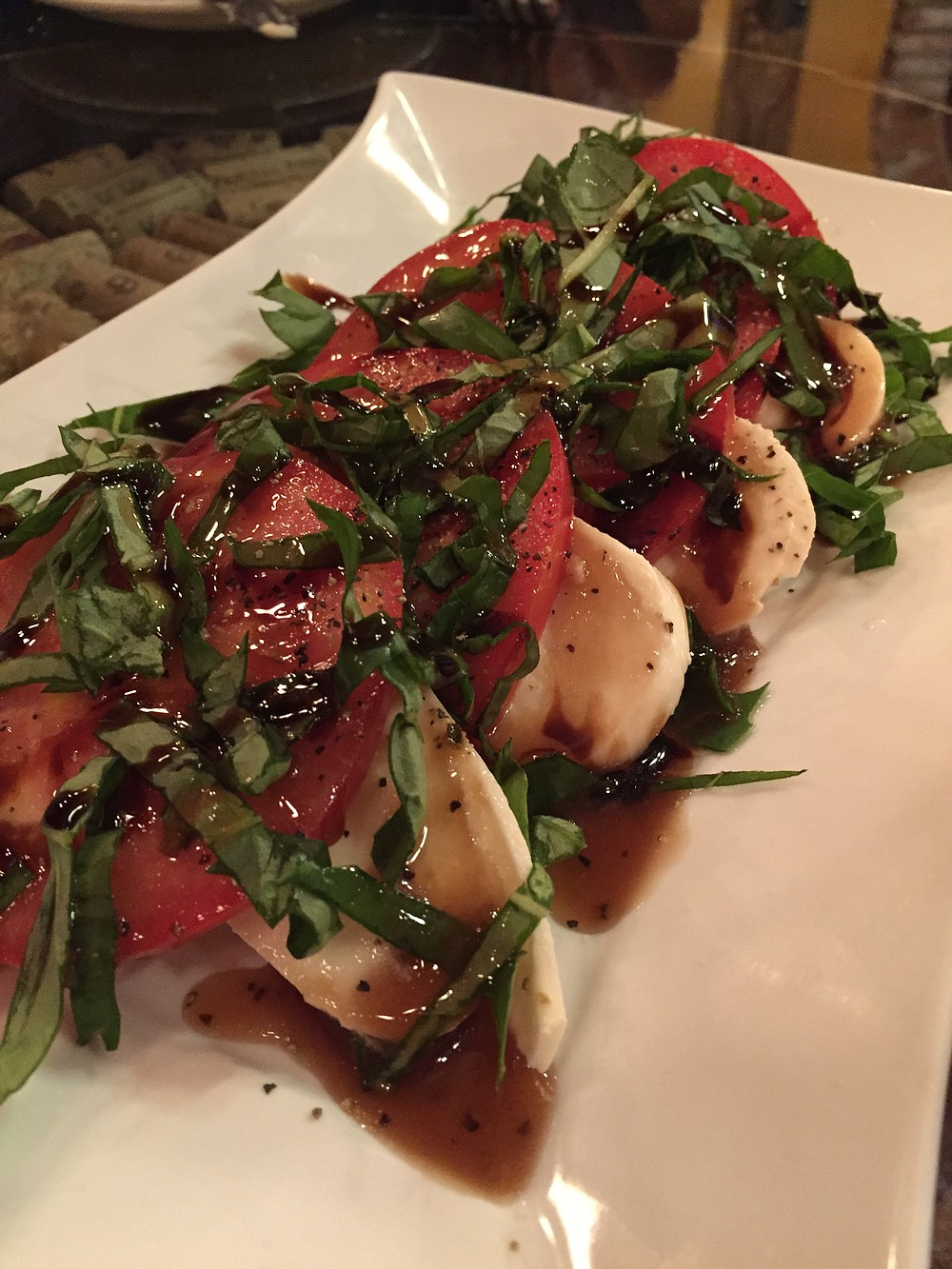 Refreshing and summery Caprese salad
