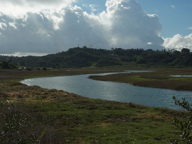 Sky clears over San Elijo Lagoon following Monday morning rains