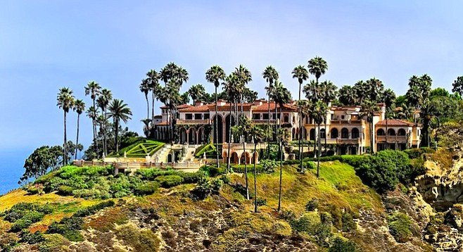 La Jolla mansion owned by Ron Burkle, said to be a prospective bankroller for the purchase of the U-T