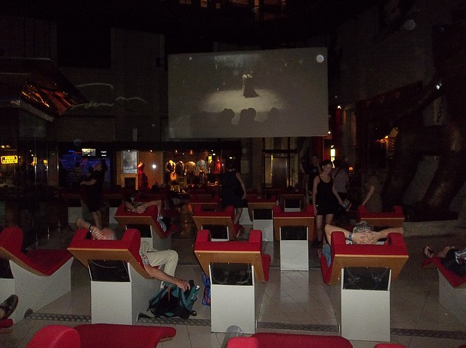 Now this is the way to view a movie. Italian National Film Museum, Turin.