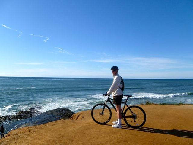 Pausing During A Fabulous Bike Ride Near Ocean Beach