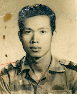 Tam's dad as military police lieutenant in Vietnam. I remember once when I was 12 or 13 in the U.S. hearing my dad leave his boss a voice message asking if he could take the next day off. The servility in his voice, the pleading, the struggling to get out words, was painful to hear.