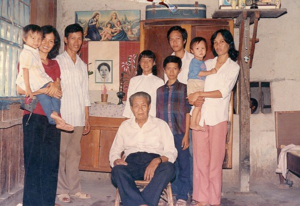Tam is on the left, with his mother and father. I grew up in a village in Vietnam called Lam Son, a small backwater south of Saigon (if you're speaking to a Vietnamese-American, don't even think about calling it Ho Chi Minh City. Because communism. Because, sore losers.)