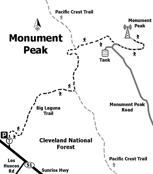 Hike from Big Laguna Trailhead to Monument Peak