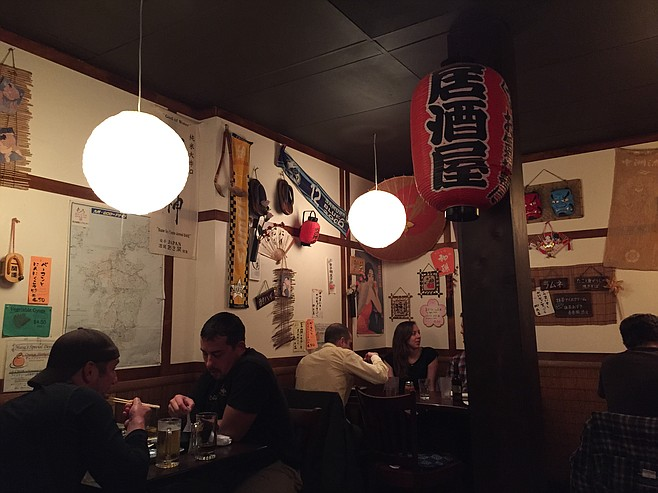 Inside one of the two dining rooms at Izakaya Masa
