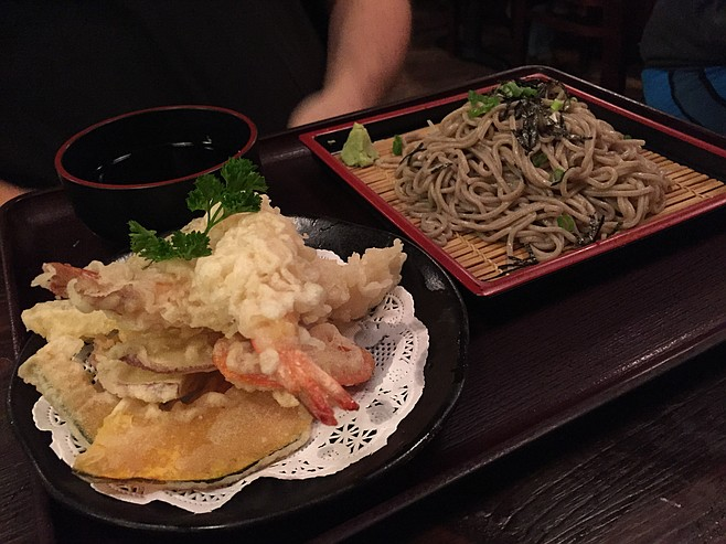 David's favorite ten-zaru soba dish in town