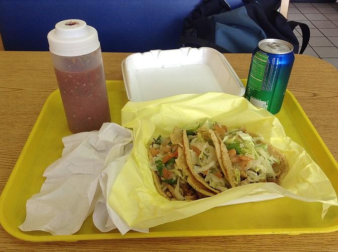 Tacos combo at Pollos Don Pepe.