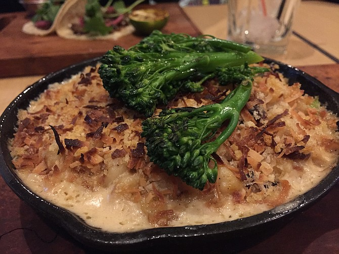 Not Mac n' Cheese, among the vegetarian items on the menu