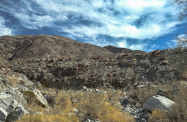 Rattlesnake Canyon's unconsolidated alluvial conglomerate