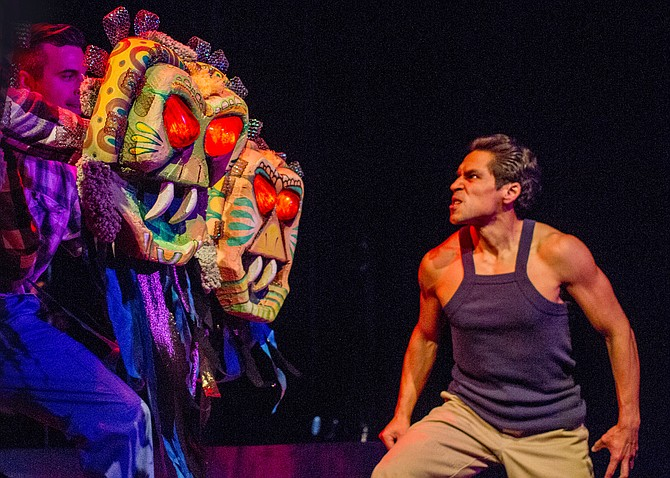 Leandro Cano, Spencer Smith, Lakin Valdez in Oedipus El Rey at San Diego REP