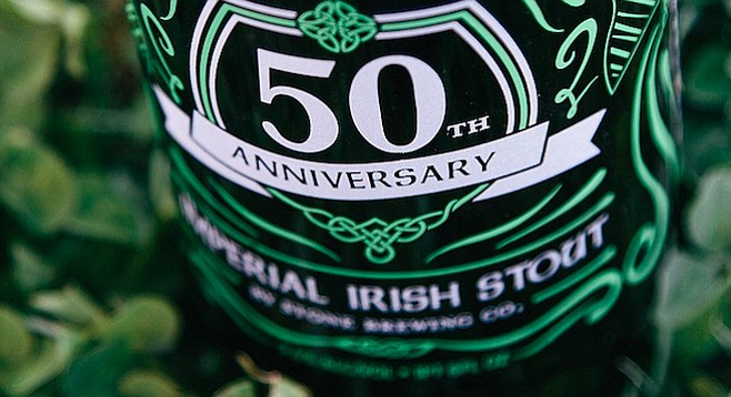 Holiday Wine Cellar 50th Anniversary Imperial Irish Stout by Stone Brewing Co. (photo courtesy Stone Brewing Co.)