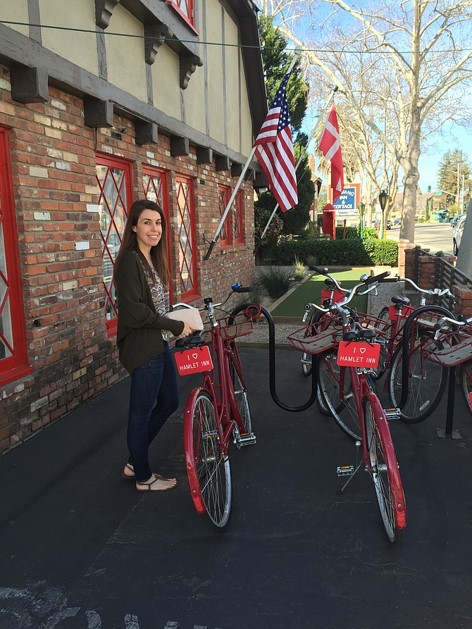 The free bikes for guests at The Hamlet Inn