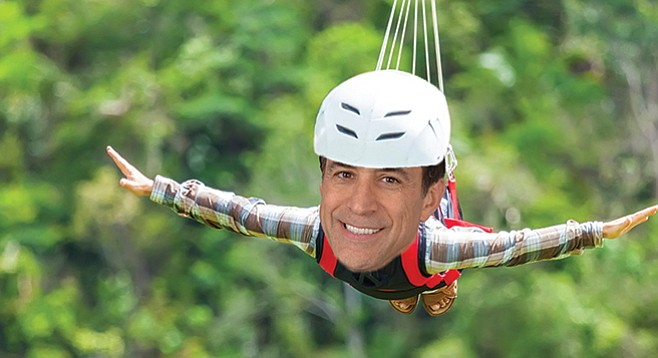 """After discussing """"pressing policy issues,"""" Darrell Issa had zip-line flights and wine-tasting options."""