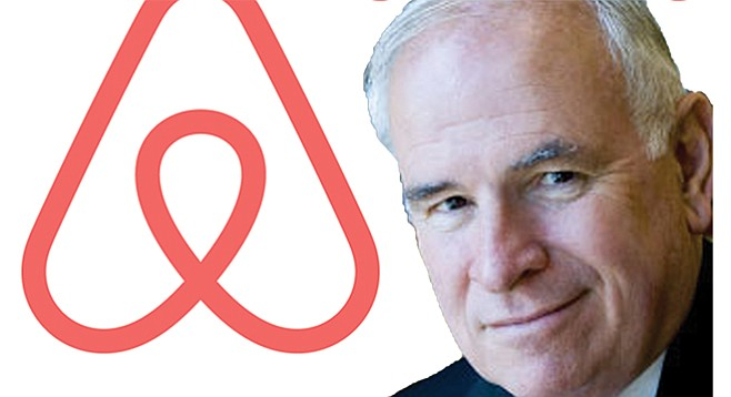 Airbnb will pay Bob White to push for a policy that  preserves the company's operation in San Diego.
