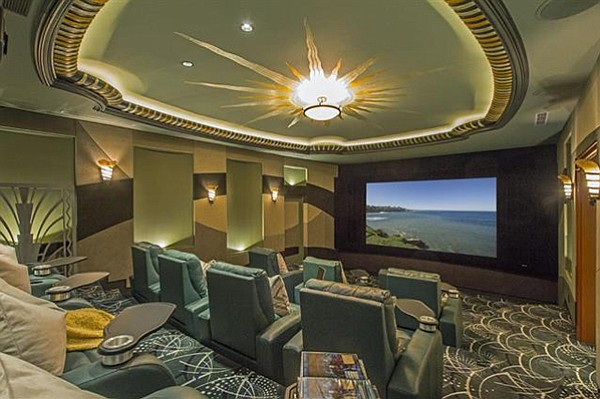 The home movie theater owned by a guy who builds movie theaters