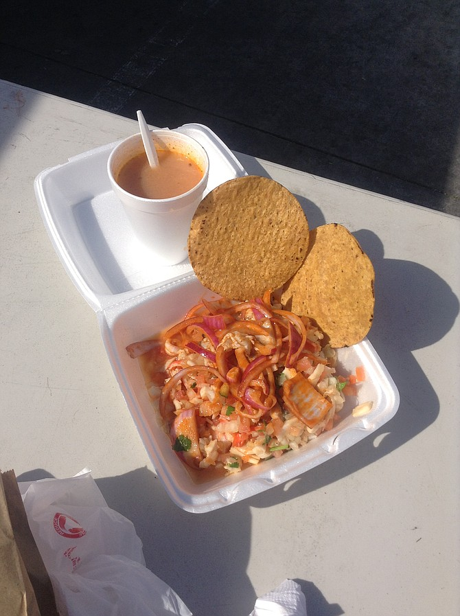 Las Famosas Popeyes and seafood broth