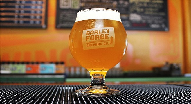 Aztec Brewery and Barley Forge Brewing Company's collaborative Lupulin Against Lupus double white IPA - Image by @sdbeernews